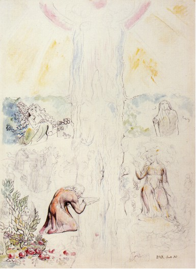 William Blake - Dante drinking at the River of light